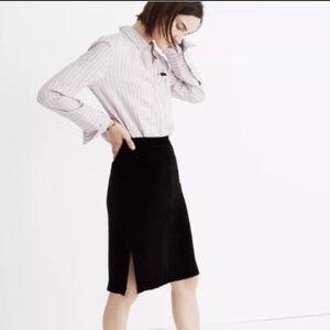NWT Madewell Velvet Skirt